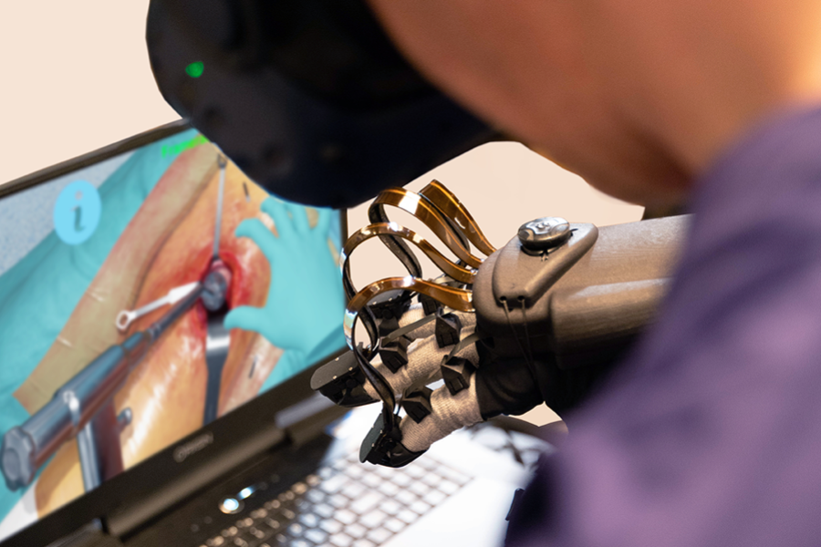 FundamentalVR showcases HaptX gloves on Fundamental Surgery the most advanced haptic & VR Surgical platform