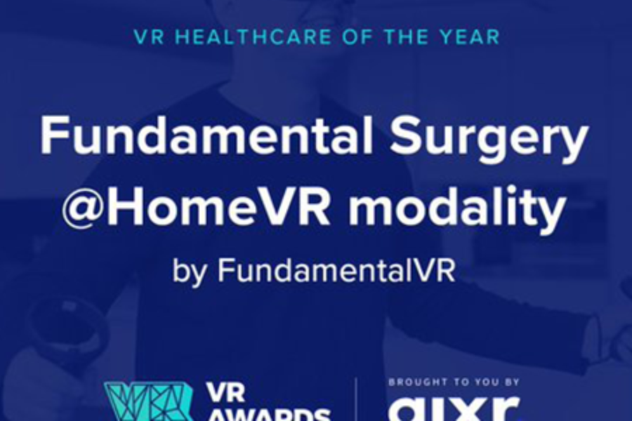 FOURTH INTERNATIONAL VR AWARDS WINNER